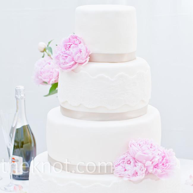 ślubne inspiracje  tort weseleny