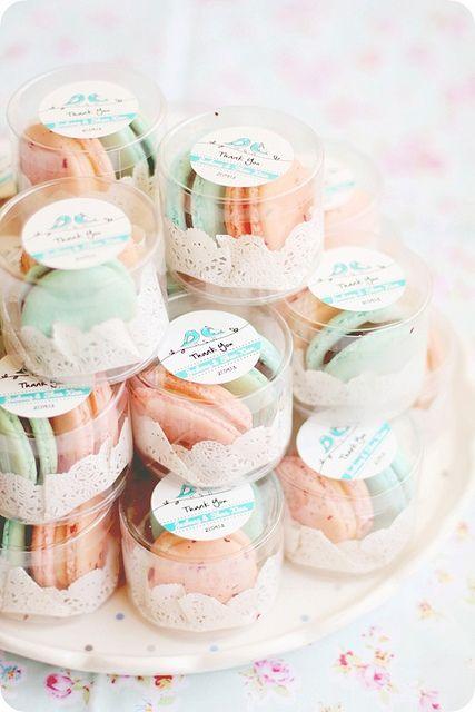romantyczne makaroniki dla weselnych gości