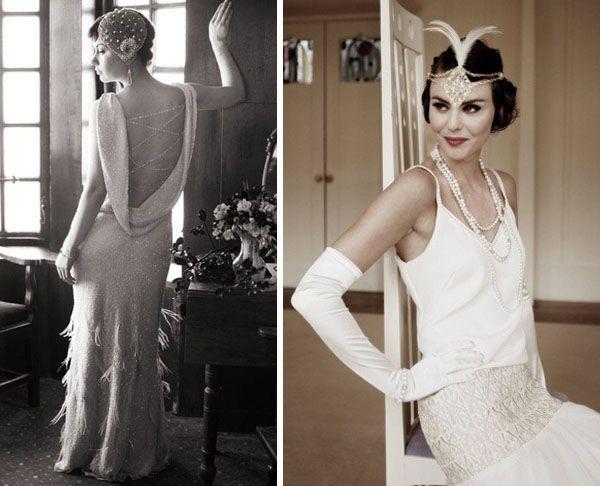 suknia ślubna w stylu lat 20