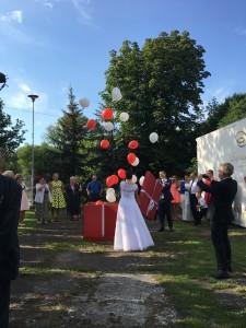 Balony z helem. perfect wedding